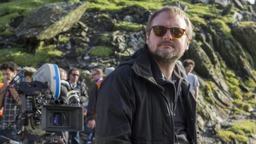 Rian Johnson on the set of The Last Jedi
