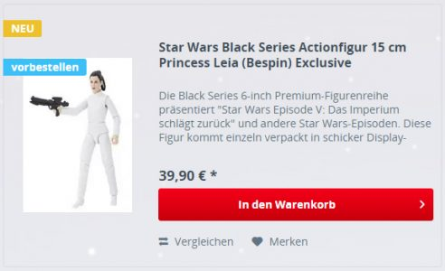 Black Series Bespin Leia