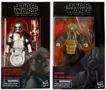 Star Wars Black Series Phasma and Zuckuss