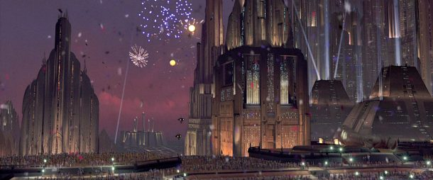 Coruscant fireworks