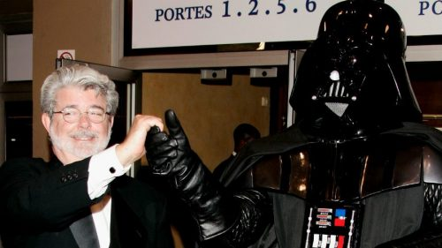 George Lucas and Darth Vader