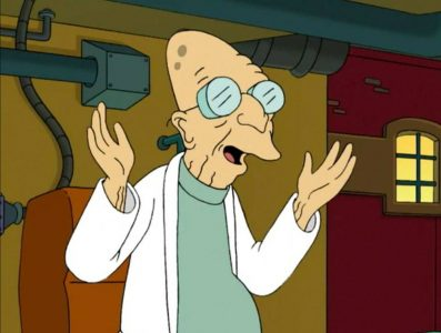 Professor Farnsworth with good news