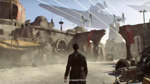 Screenshot of the previously cancelled Star Wars game from Visceral Games