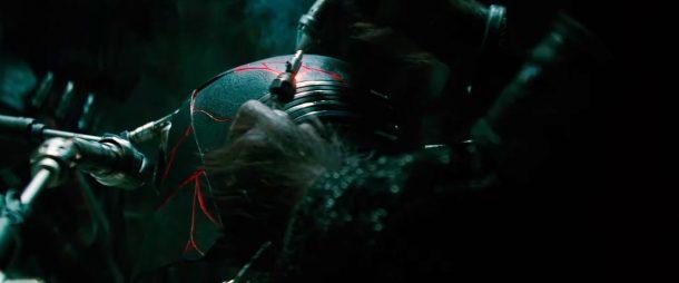 Kylo's helmet is repaired