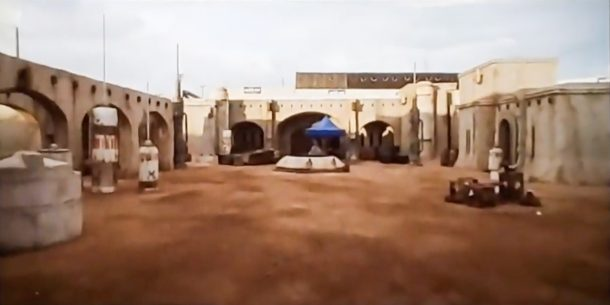 The set of the Mandalorian