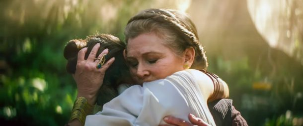 Leia hugs Rey