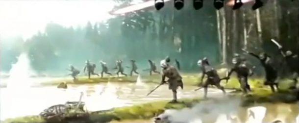 Aliens go into battle