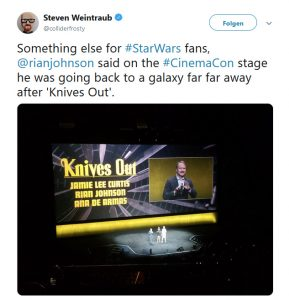 Rian Johnson at CinemaCon