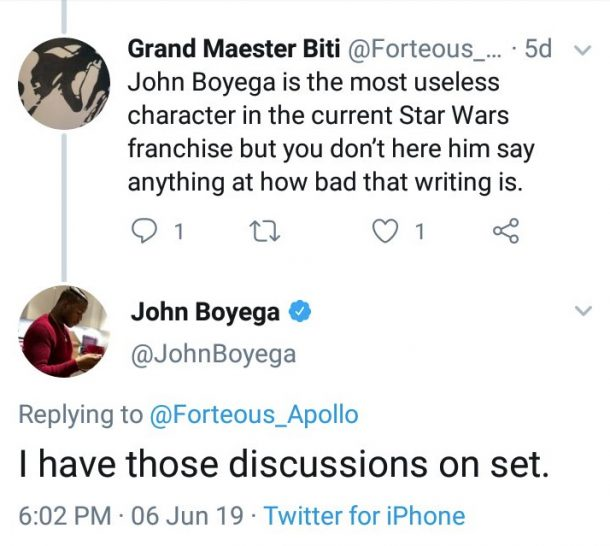 John Boyega tweet