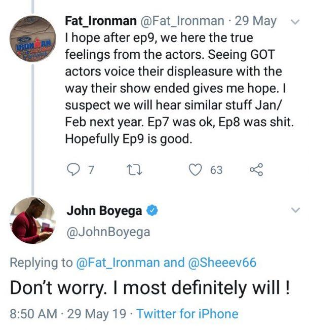 John Boyage tweet