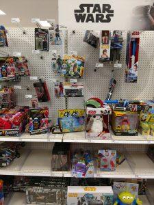 Star Wars Shelf at Walmart
