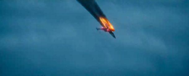 The Rise of Skywalker X-Wing getting shot down