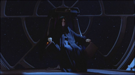Emperor Palpatine On Imperial Throne - Premium Format ...
