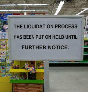 Toys R Us Liquidation Sale On Hold