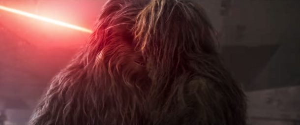 Chewie and Mallatobuck in a tearful goodbye scene?