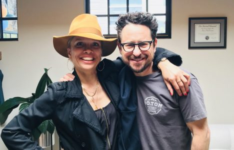 Victoria Mahoney and JJ Abrams