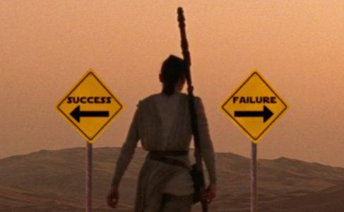 Rey choosing a direction