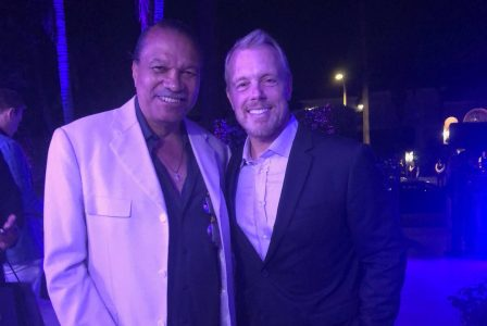 Billy Dee Williams and personal trainer Gunnar