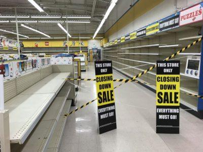Toys R Us empty shelves