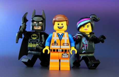 Lego Emmet, Wyldfire and Batman