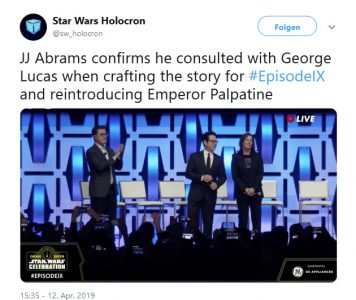 Star Wars Episode IX Tweet