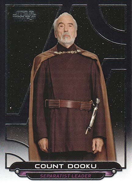 Count Dooku Trumps Trading Card