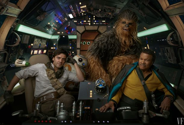 Han, Chewie and Lando in the Falcon, The Rise of Skywalker