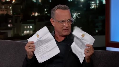 Tom Hanks with Disney's rules for Toy Story 4