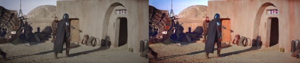 A New Hope Color Grading Applied To The Mandalorian