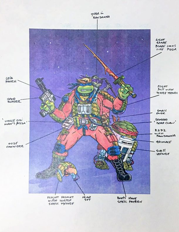 Teenage Mutant Ninja Star Wars Concept Art