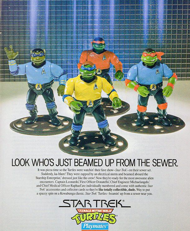 Teenage Mutant Ninja Star Trek Figures