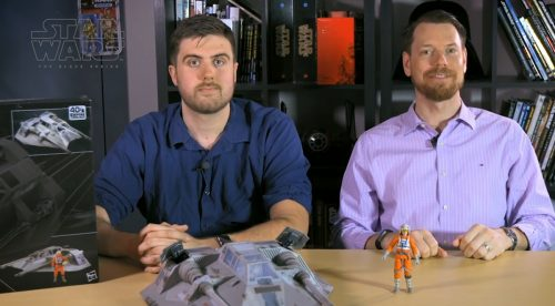 Eric and Patrick from Hasbro with Black Series Snowspeeder