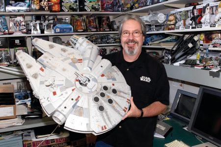 Mark Boudreaux with the Millennium Falcon