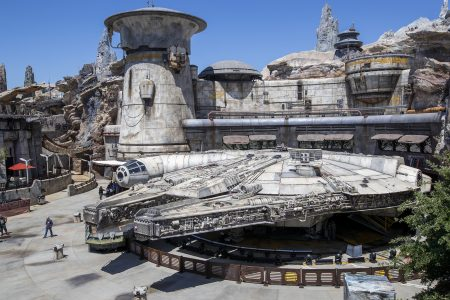 Galaxy's Edge with the Millennium Falcon