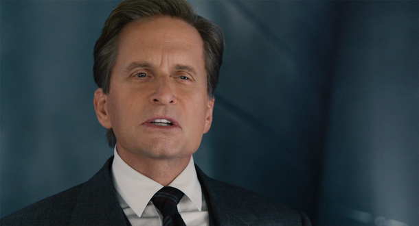 Rejuvenated Michael Douglas in Ant Man