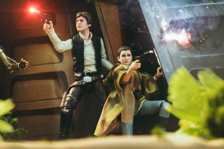 Matthew Cohen Han and Leia on Endor photo