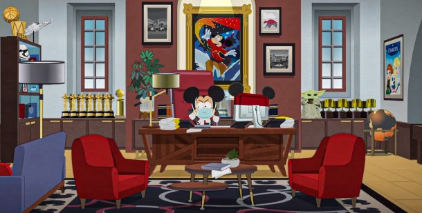 South Park: Mickey Mouse in his office