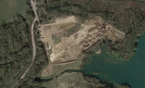 Google Earth view of the Andor set from March 2020