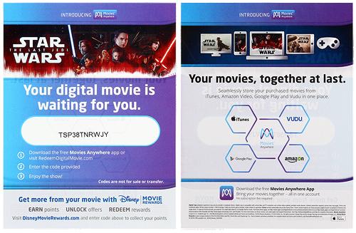 The Last Jedi (Blu-ray/Digital HD) - Home Video Research Droids