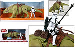 Dewback with Imperial Sandtrooper (Walmart) - Hasbro - Legacy Collection (2009)