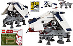 Mini Republic Dropship & Mini AT-TE (SDCC Brickmaster) - LEGO - LEGO Mini (2009)