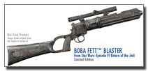 Boba Fett's blaster as seen in Return of the Jedi