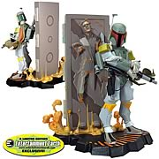 Star Wars Boba Fett and Carbonite Maquette - an EE Exclusive