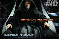 Emperor Palpatine 12-inch Figure and Imperial Throne Environment Preview