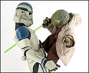 Yoda And Clone Trooper (Premium Format)