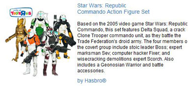 Republic Commando Action Figure Set