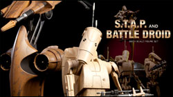 Sideshow Collectibles STAP and Battle Droid Set