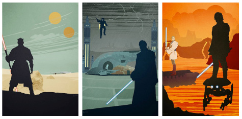 Prequel Trilogy Poster Set