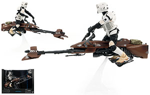 Speeder Bike with Biker Scout - Six Inch - The Black Series [Phase II]