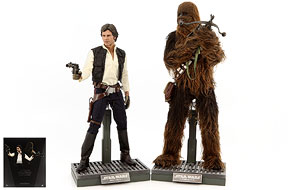 Han Solo & Chewbacca - Hot Toys - Sixth Scale Figures